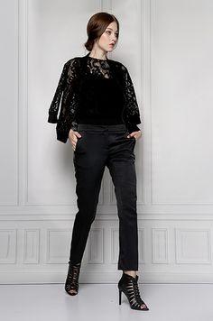 blouse lace black furelle