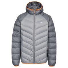 Rusler Mens Down Jacket - Trespass Ireland Mens Down Jacket, Man Down, Padded Jacket, Outdoor Outfit, Gray Jacket, Keep Warm, Top Sales, Contrast, Women Wear