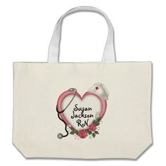 Nurses Personalized Tote Bags Great gift for your favorite nurse!