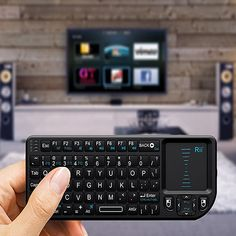 For PC Notebook Smart Google Android TV Box: Rii Mini X1 Fly Air Mouse Handheld 2.4GHz RF Wireless Keyboard Qwerty With Touchpad