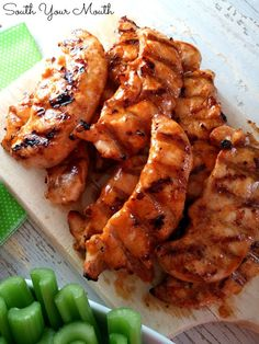 Buffalo Feathers {Chicken Tenders with Wing Sauce}