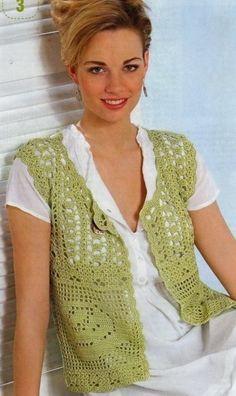 Rose Crochet Granny Vest. More Patterns Like This!