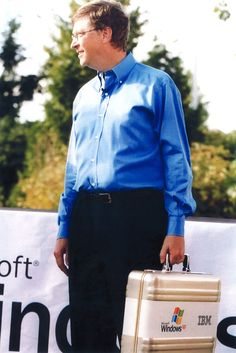 On August 24, 2001, Bill Gates introduced a commemorative CD of Microsoft's Windows XP operating system. The CDs were placed in a ZERO Halliburton P5 Gold attache case. It's been over 10 years and people are still using the software. btw, how's windows 8?