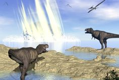 The impact that wiped out large dinosaurs also dumped hundreds of feet of debris in the ocean off the Yucatán peninsula
