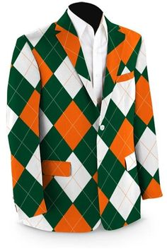 Mens Sport Coats by Loudmouth Golf - Orange & Green.  Buy it @ ReadyGolf.com