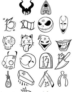 Flash all ready for Friday the . Kritzelei Tattoo, Doodle Tattoo, Poke Tattoo, Doodle Art, Tattoo Sketches, Tattoo Drawings, Body Art Tattoos, Small Tattoos, Art Drawings