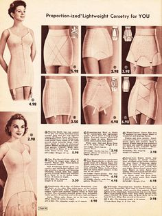 girdles, what a hoot! look at the prices!