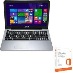 Bộ Laptop Asus F555LF-XX168D 15.6inch (Đen) và Phần mềm office 365 bản quyền