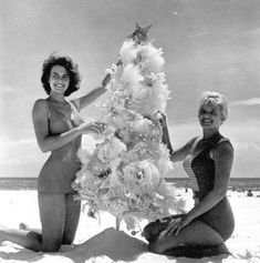 vintage everyday: Preparing for Christmas – 37 Lovely Vintage Photos Show People Decorating Their Christmas Trees