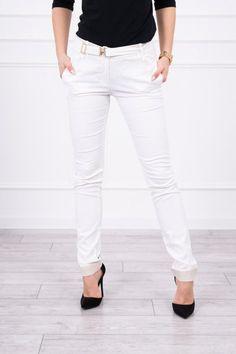 Pantaloni dama bej - 69 Lei -    Compozitie:  57% bumbac ,  40% viscose,  3% spandex  -   Comanda acum!  #divashopromania #divashop #hainefemei #pantaloni  #fashion #fashionista #fashionable #fashionaddict #styleoftheday #styleblogger #stylish #style #instafashion #lifestyle #loveit #summer #americanstyle #ootd #ootdmagazine #outfit #trendy #trends #womensfashion #streetstyle #streetwear #streetfashion #shopping #outfitoftheday #outfitinspiration #ootdshare #trendalert #b White Jeans, Street Style, Ootd, Spandex, Outfit, Shopping, Fashion, Outfits, Moda