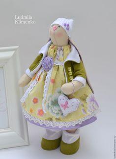Купить Зайка Виолетта - зеленый, зайка, зайчик, зайка девочка, зайка тильда, зайка игрушка