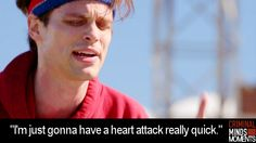 Ive personally never related to someone as much as spencer reid after ive ran Criminal Minds Garcia, Criminal Minds Quotes, Criminal Minds Cast, Criminal Record, Criminal Minds Workout, Dr Spencer Reid, Dr Reid, Spencer Reid Criminal Minds, Matthew Gray Gubler