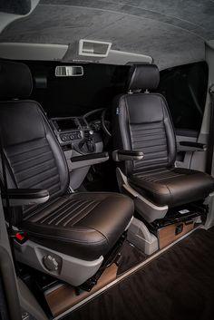 Custom Seating Options - New Wave Custom Conversions Vw Transporter Camper, Vw T5 Campervan, Vw Camper Conversions, Camper Van Conversion Diy, Custom Camper Vans, Custom Vans, Caddy Van, Vw Caravelle, Transit Custom