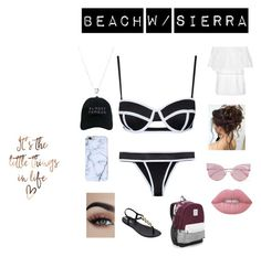 """Isabel's Bathing Suit"" by jacobsartoriusismybae on Polyvore featuring Victoria's Secret, IPANEMA, Melissa Odabash, Fendi, Lime Crime, Nasaseasons and Links of London"