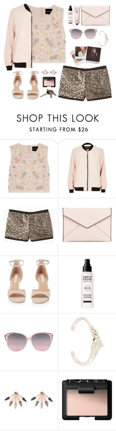"""i believe in pink"" by thosewhowonderarenotalwayslost ❤ liked on Polyvore featuring Needle & Thread, River Island, MANGO, Rebecca Minkoff, Diane Von Furstenberg, MAKE UP FOR EVER, Salvatore Ferragamo, Pamela Love, Avon and NARS Cosmetics"