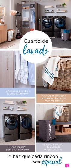 Tu cuarto de lavado merece la misma atención que el resto de la casa y puedes conseguir lugares envidiables. Liverpool, Bathroom Interior, Cabinet, Storage, Furniture, Food, Home Decor, Home Decorations, Washer And Dryer