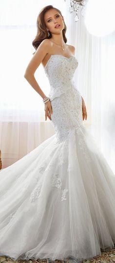 Sheath Wedding Dress : Sophia Tolli 2015 Bridal Collection   bellethemagazine.com