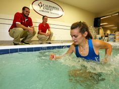 Cal U's accredited athletic training programs include both classroom and clinical instruction.