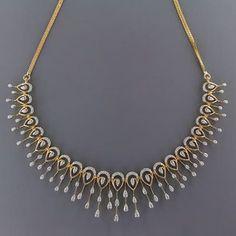 Diamond Necklace Simple, Diamond Rings, Gold Necklace, Diamond Necklaces, Necklace Online, Necklace Designs, Women Accessories, Chain, Stylish
