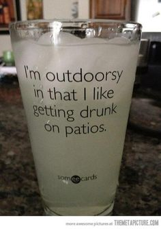 the great outdoors.