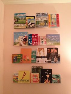 I went online and bought these last night. Can't beat the price! clear Book shelves for kid's room.