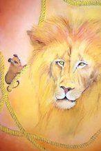 dubbele kaart 240 de leeuw en de muis brechtje duijzer