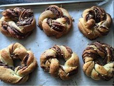 Braided Nutella Bread in 50 Minutes - Episode 215 - Baking with Eda Herb Bread, Potato Bread, Pecan Recipes, Easy Bread Recipes, Braided Nutella Bread, Tear And Share Bread, Crack Bread, Gluten Free Party Food, Bread Twists