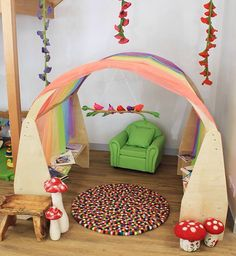 Lovely little reading nook-photo from Educating Kids