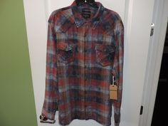 True Religion Designer Big Man Cotton Mateo Plaid Western Shirt SZ 3XL NWT  #TrueReligion #Western
