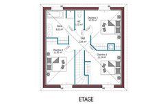 Birdie   132 m²   4 chambres   Modèles de maison - Côte Atlantique   MCA Maison Mca, Floor Plans, Traditional Taste, Bedrooms, Houses, Floor Plan Drawing, House Floor Plans