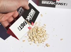 creative take on breakfast cereal packaging.