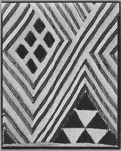 "Walker Evans  Tufted Textile (Detail), Belgian Congo, 1935  gelatin silver print, 9 5/8"" x 7 5/8"" (24.5 x 19.4 cm)"