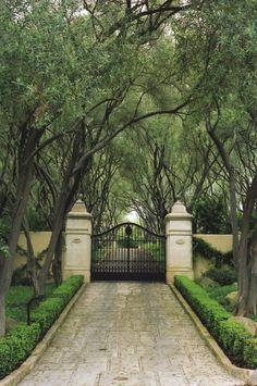 Southern mansion gate