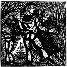 Raoul Dufy - The Pleasures of Peace: Dance (The Journey to the Islands), 1910 - woodcut Raoul Dufy, Black White Art, Black And White Painting, Port Du Havre, Pop Art, Dance Paintings, Matisse, Post Impressionism, Naive Art