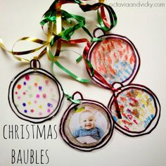 Post image for Homemade Ornaments: Laminated Christmas Baubles