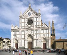 The Santa Croce cathedral in Florence
