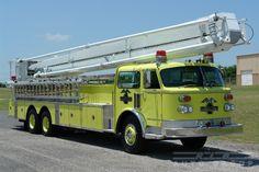 1983 American LaFrance 85' Snorkel Aerial Ladder Fire Truck.