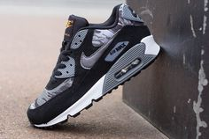 "hot sale online 51965 8fb81 Women s Sneakers   Preview  Nike Air Max 90 GS ""Black  amp  Camo"""