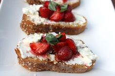 Strawberry Bruschetta - Would make this again in a heartbeat.  Served for Mother's Day brunch and it was fantastic.