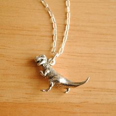 $42.00 Thomas the TRex Necklace by suzannemade on Etsy  BUY ATWWW.ETSY.COM
