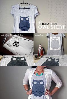 Polka Dot Owl Shirt