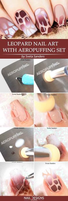 Super Easy Aeropuffing Nail Art Tutorials To Do At Home ❤️ Quick Leopard Nail Art With Aeropuffing Set ❤️ Aeropuffing nail art is the new trend, and there is no wonder why! Apart from the fact that it looks absolutely gorgeous, it is easy to come up with even if you are the beginner at nail art. https://naildesignsjournal.com/aeropuffing-nail-art/ #naildesignsjournal #nails