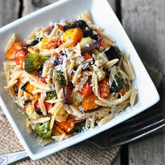 DeLallo Healthy Italian Recipes | Whole-Wheat Orzo with Garlicky Roasted Vegetables