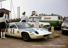 1969 Oulton Park, Gold Cup, refueling paddock, John S. Calvert with the Lotus 47 Europa nr22, 10th . ©?? .  Inside The Motorsport Paddock #