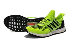 WMNS adidas Ultra Boost 2015 2016 PrimeKnit Volt Flah Lime Black White UK Trainers 2017/Running Shoes 2017