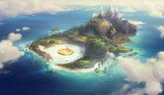 Piggy Island, Tuomas Korpi on ArtStation at http://www.artstation.com/artwork/piggy-island