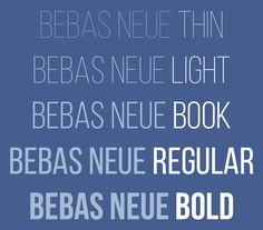Free font: Bebas Neue