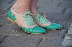 pastel oxford shoes