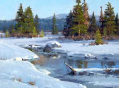 Jim Wilcox  Spring is Coming  Oil on Canvas Board  12 x 16