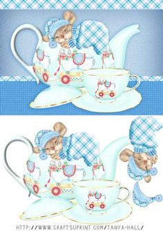 Little Mouse In A Teapot Night Before Christmas Quick Card